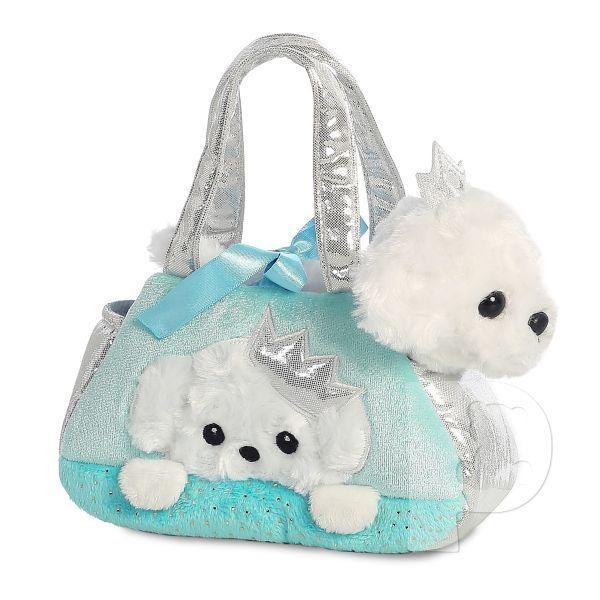 Plyšová kabelka modrá so šteniatkom - Fancy Pals (20,5 cm)
