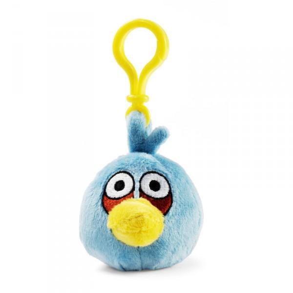 Plyšový Angry Birds modrý - prívesok