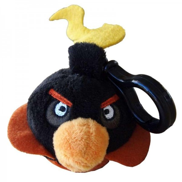 Plyšový Angry Birds - Space čierny - prívesok