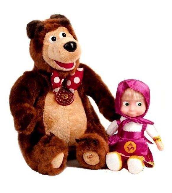 Bábika Máša a Medvěd Miško - Máša a Medvěd (22 cm a 33 cm)