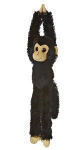 Plyšový visiaci šimpanz čierny - Hanging Monkeys (49 cm)