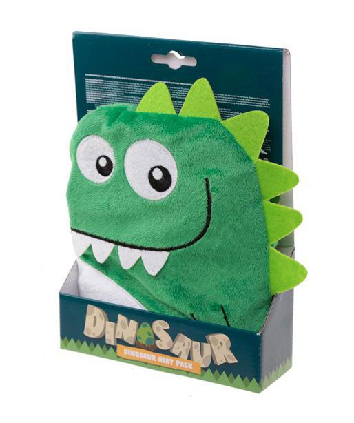 Hřejivý polštářek dinosaurus zelený - Snuggables (24 cm)
