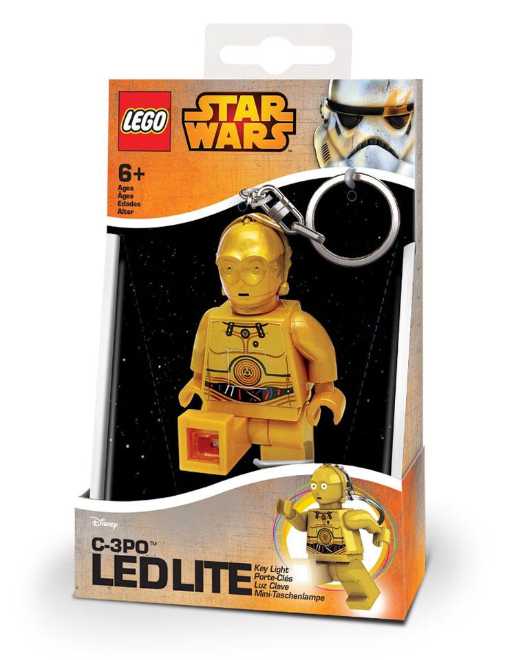 LED kľúčenka C3PO - LEGO Star Wars  (7,5 cm)