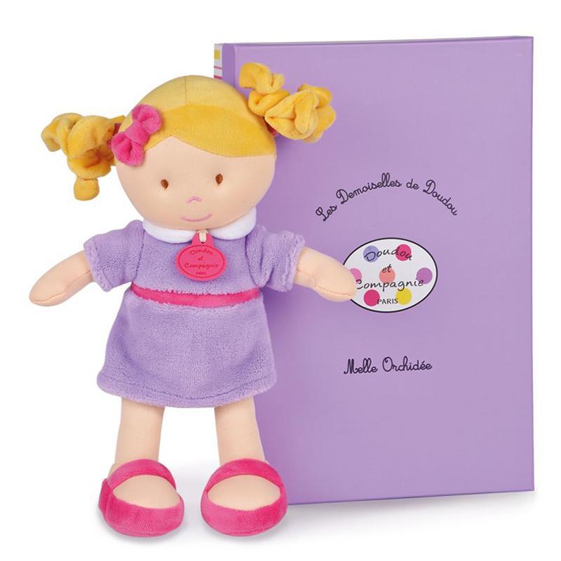 Plyšová bábika Orchidée v škatuľke - Dou Dou (30 cm)