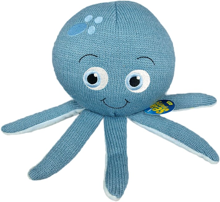 Plyšová chobotnica -  SEAHAPPY LUNA - 22 x 15 cm
