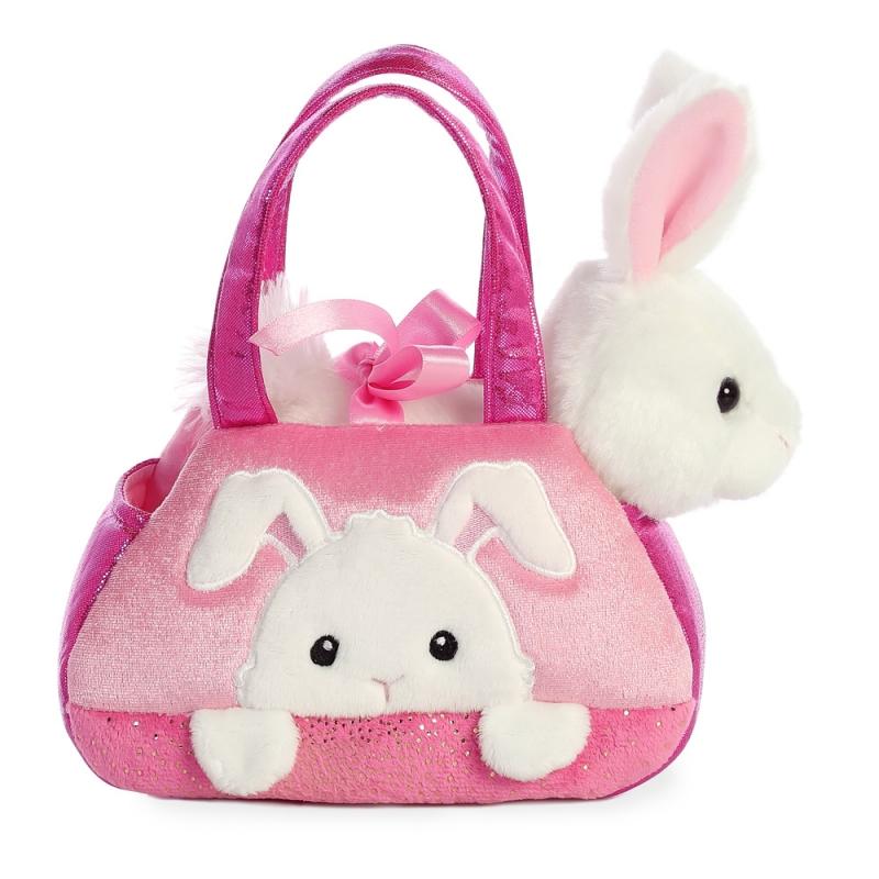 Plyšová kabelka ružová so zajačikom - Fancy Pals (20,5 cm)