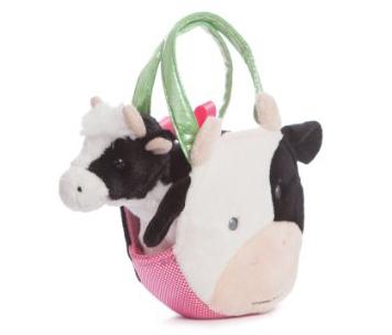Plyšová kabelka s kravičkou - Fancy Pals (20,5 cm)