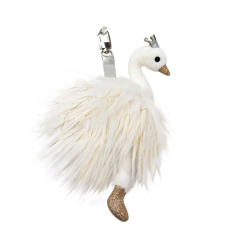 Plyšová labuť Blanc - prívesok - Histoire D´Ours (19 cm)
