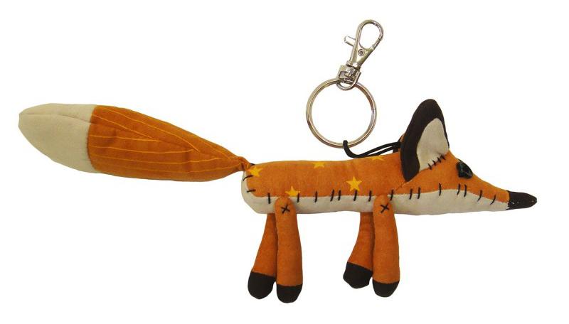 Plyšová líška - kľúčenka - Malý princ (24 cm)