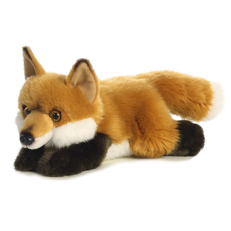 Plyšová liška ležící - Miyoni (28 cm)
