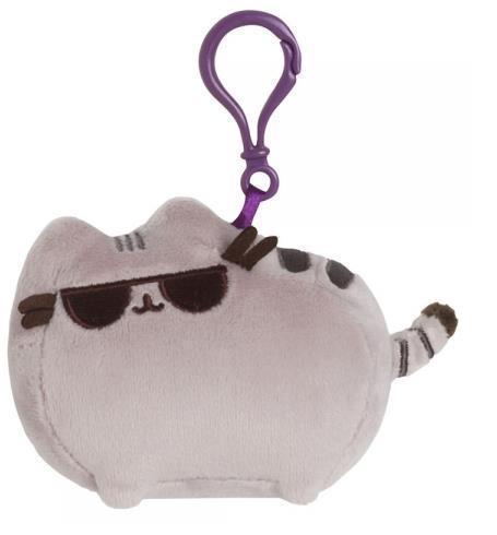 Plyšová mačička Pusheen s okuliarmi prívesok (11 cm)