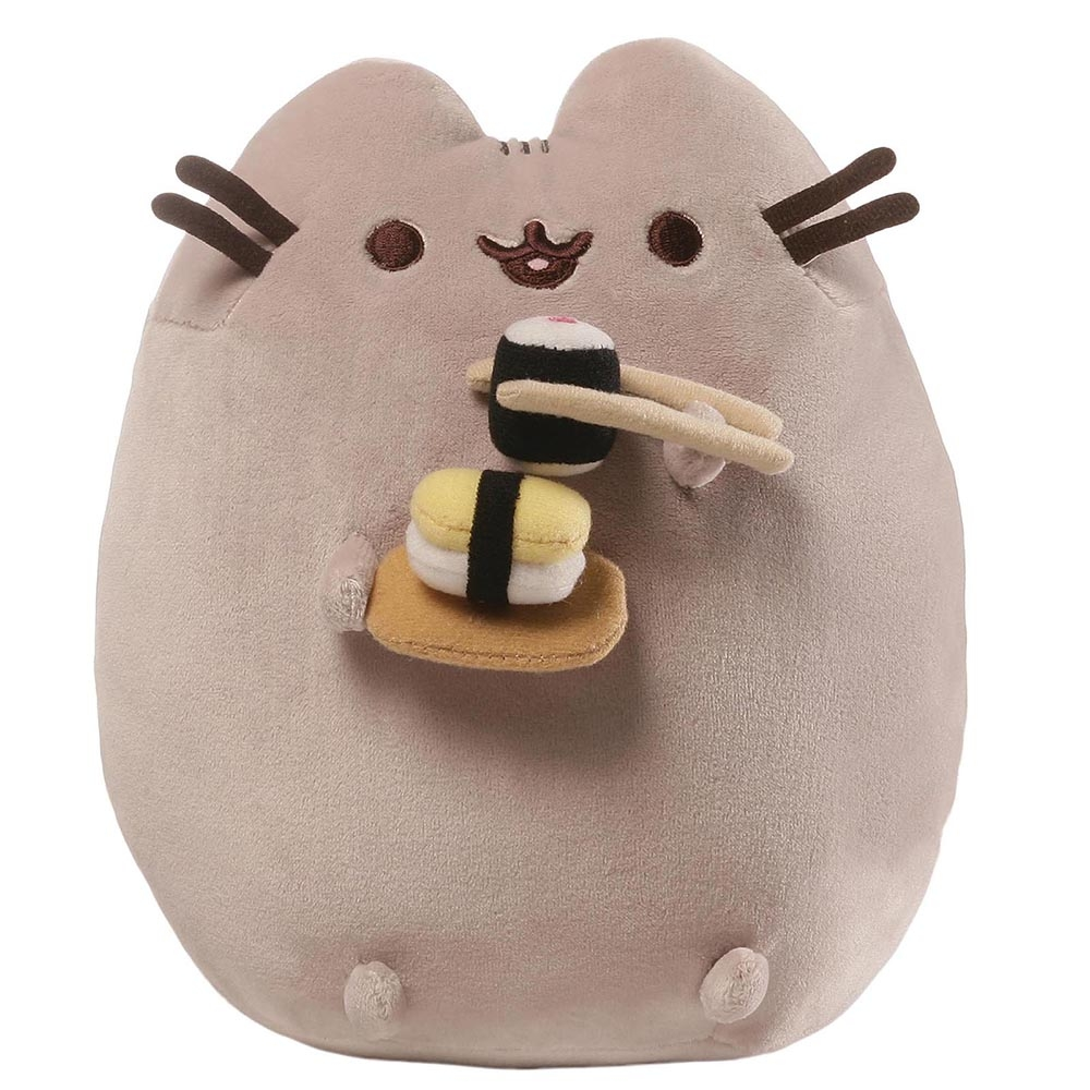 Plyšová mačička Pusheen so sushi (24 cm)