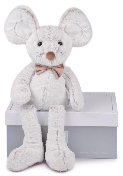 Plyšová myška s mašličkou v škatuľke - Histoire D´Ours (50 cm)