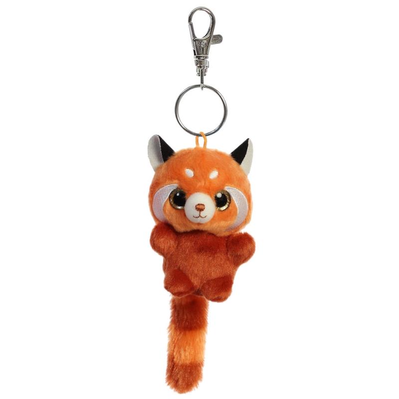 Plyšová panda červená Hapee Baby - kľúčenka - YooHoo (9 cm)
