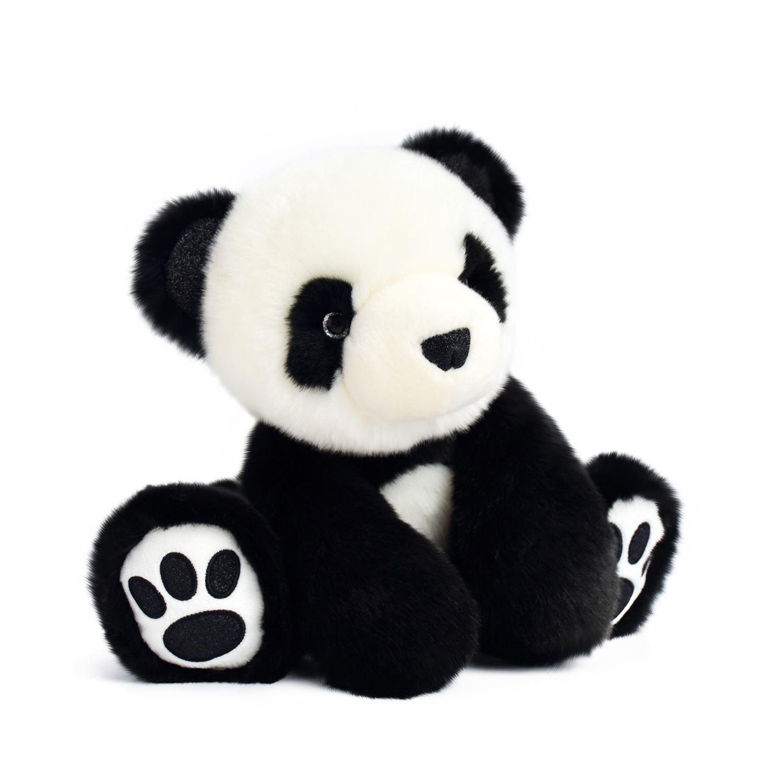 Plyšová panda čierna - Histoire D´Ours (25 cm)
