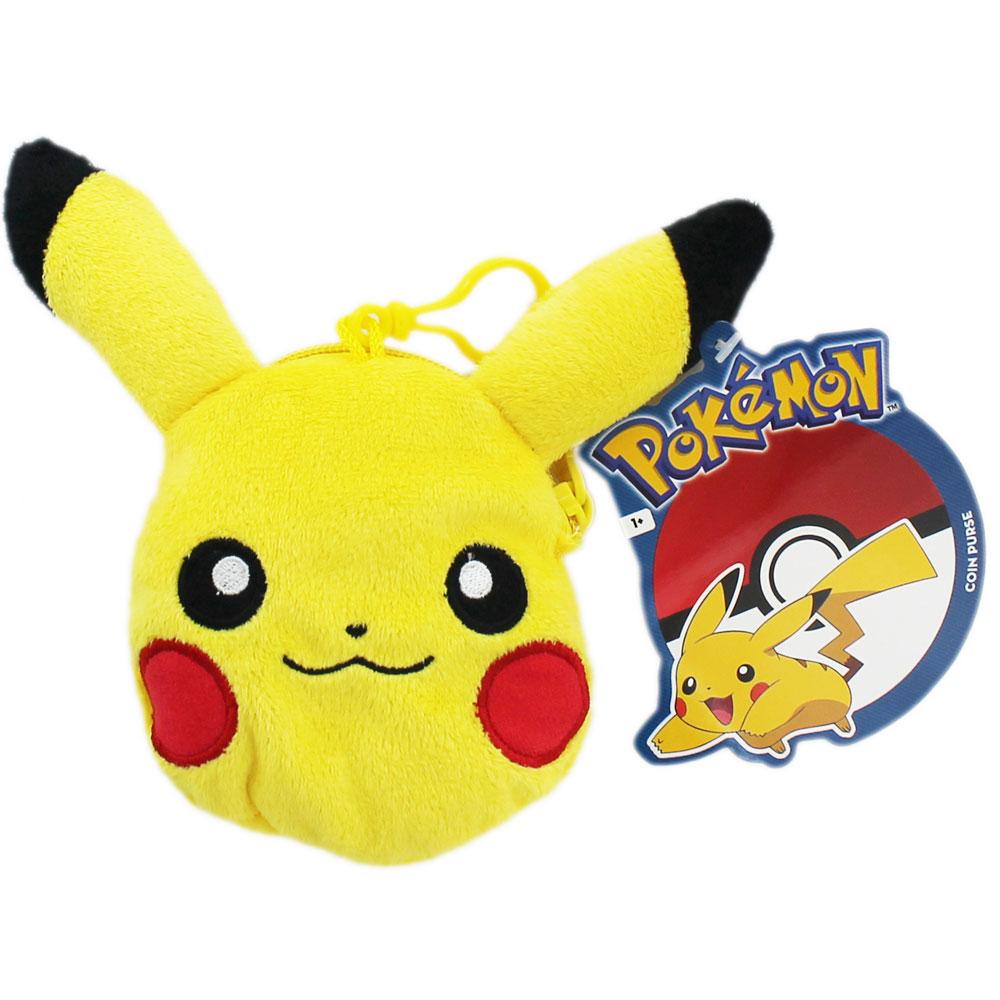 Plyšová peňaženka + prívesok Pikachu - Pokemon (8 cm)