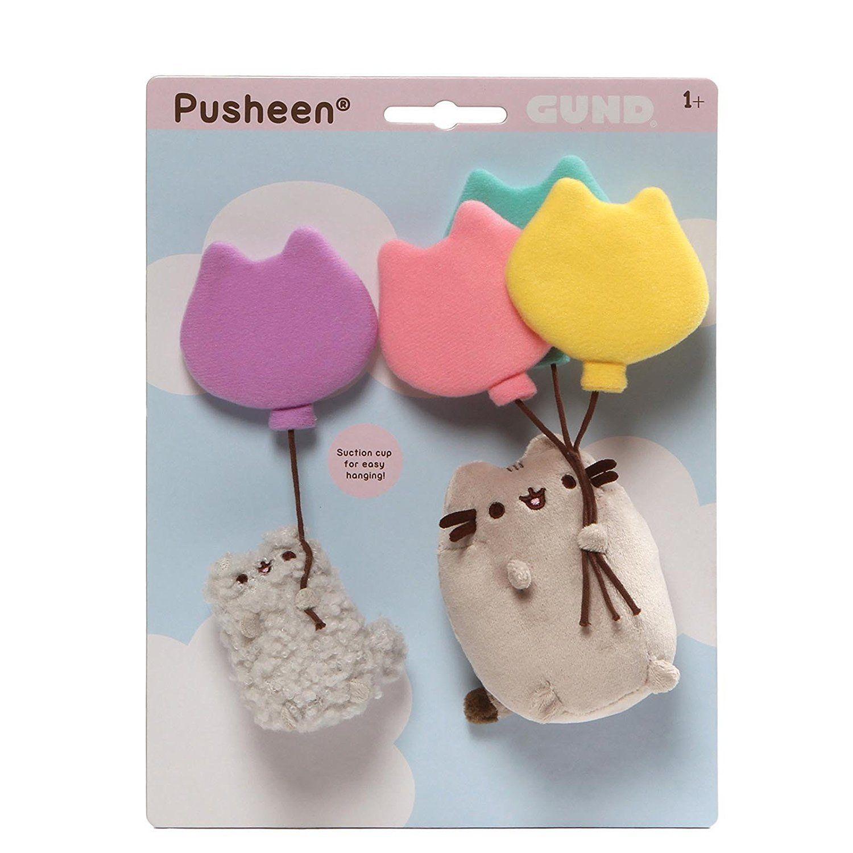 Plyšová sada Pusheen a Stormy s balónikmi (23 x 31 cm)