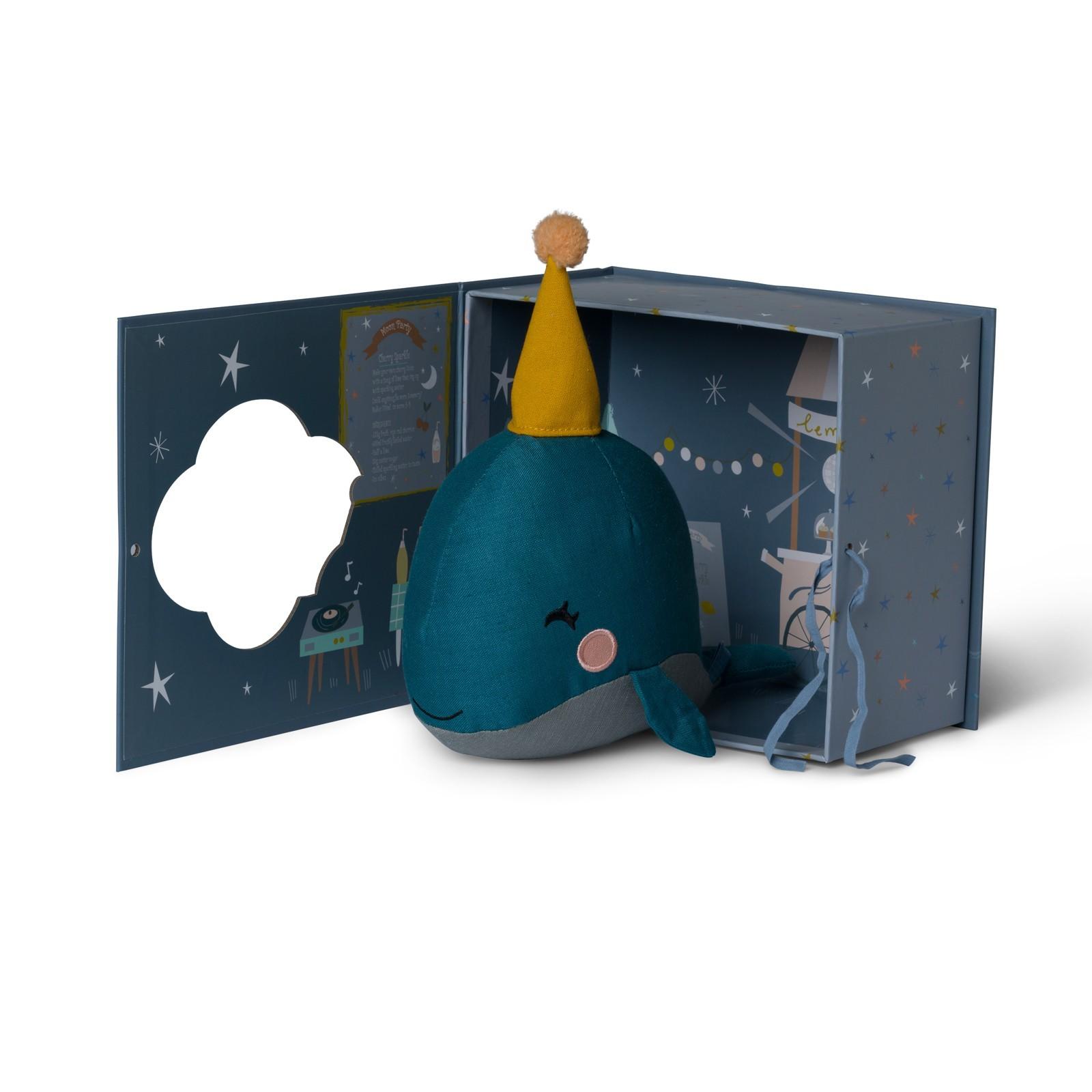 Plyšová veľryba v škatuľke - Picca Loulou (21cm)