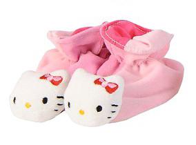 Plyšové papučky ružové - Hello Kitty (13 cm)