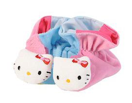 Plyšové papučky ružovo-modré - Hello Kitty (13 cm)