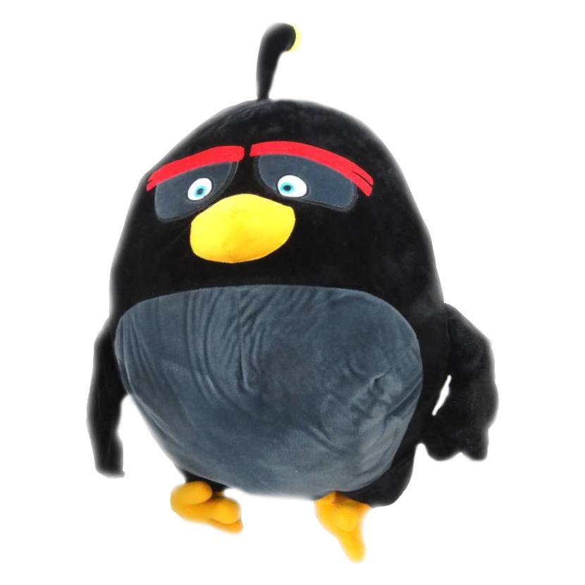 Plyšový Angry Birds Movie Bomb - čierny (54 cm)