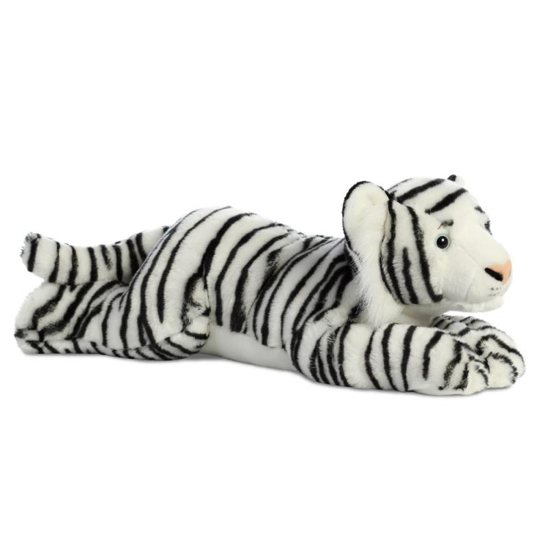 Plyšový biely tiger - Flopsies Super (68,5 cm)