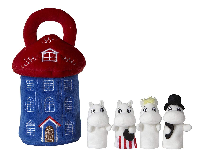 Plyšový domček s bábkami na prsty - Moomin (22 cm)