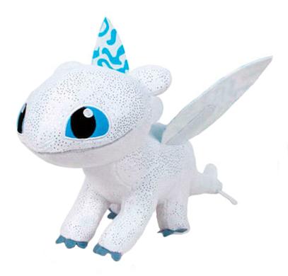 Plyšový drak Light Fury s modrými krídlami - Ako si vycvičiť draka 3 (40 cm)