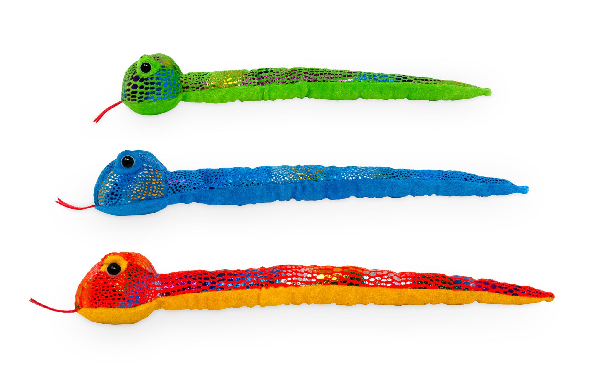 Plyšový had farebný - 38 cm