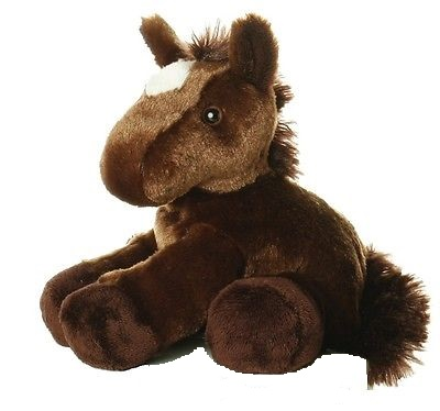 Plyšový hnedý koník Chestnut - Flopsie (20,5 cm)