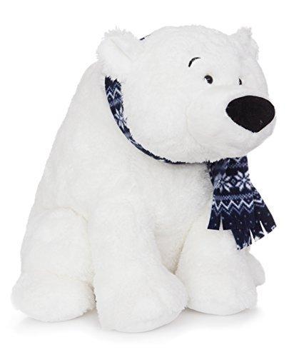 Plyšový ľadový medveď so šálom (38 cm)