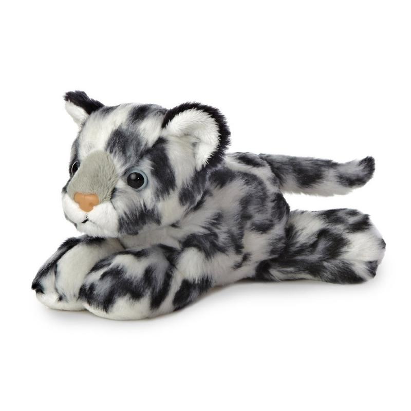 Plyšový leopard sněžný - Flopsies Mini (20,5 cm)
