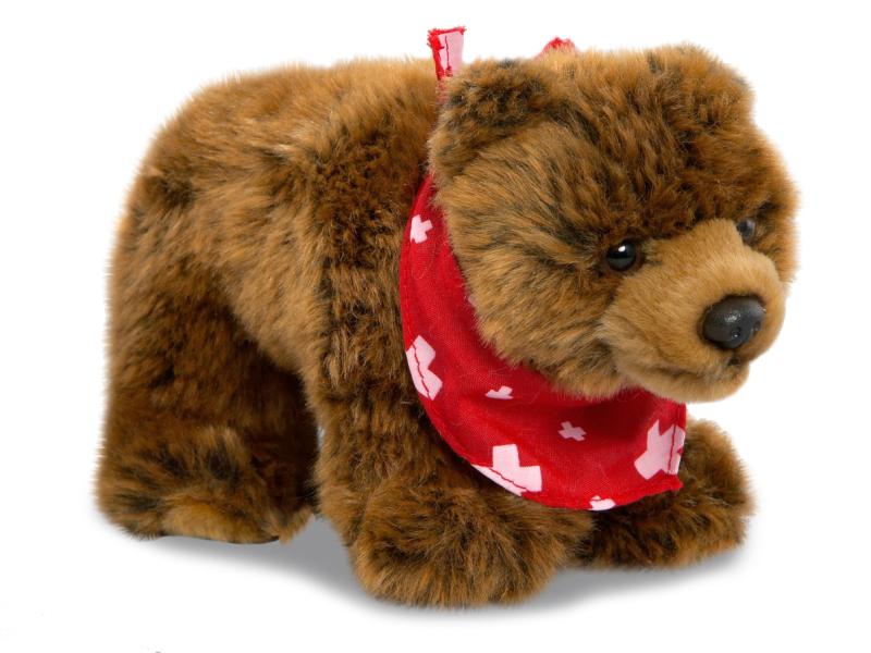 Plyšový medveď s červenou šatkou - Authentic Edition 25 cm