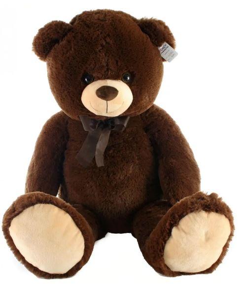 Plyšový medvěd tmavý - 100 cm