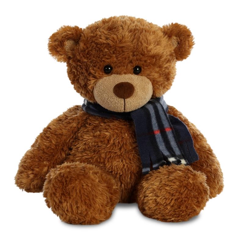 Plyšový medvídek hnědý se šálou - Bonnie (33 cm)