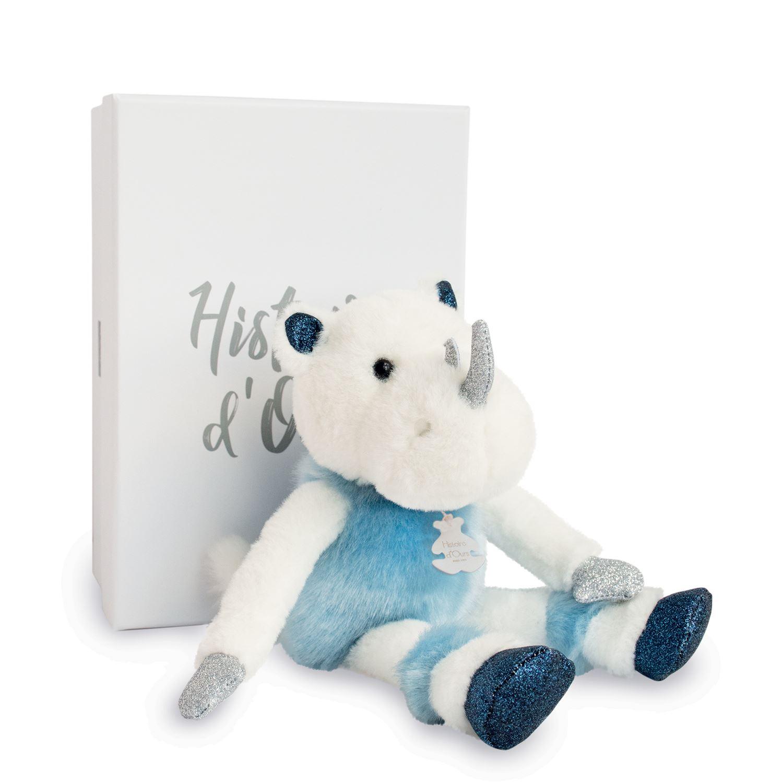 Plyšový nosorožec v škatuľke - Histoire D´Ours (25 cm)