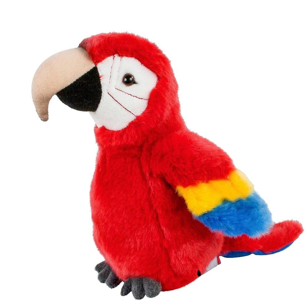 Plyšový papagáj červený - Authentic Edition - 19 cm
