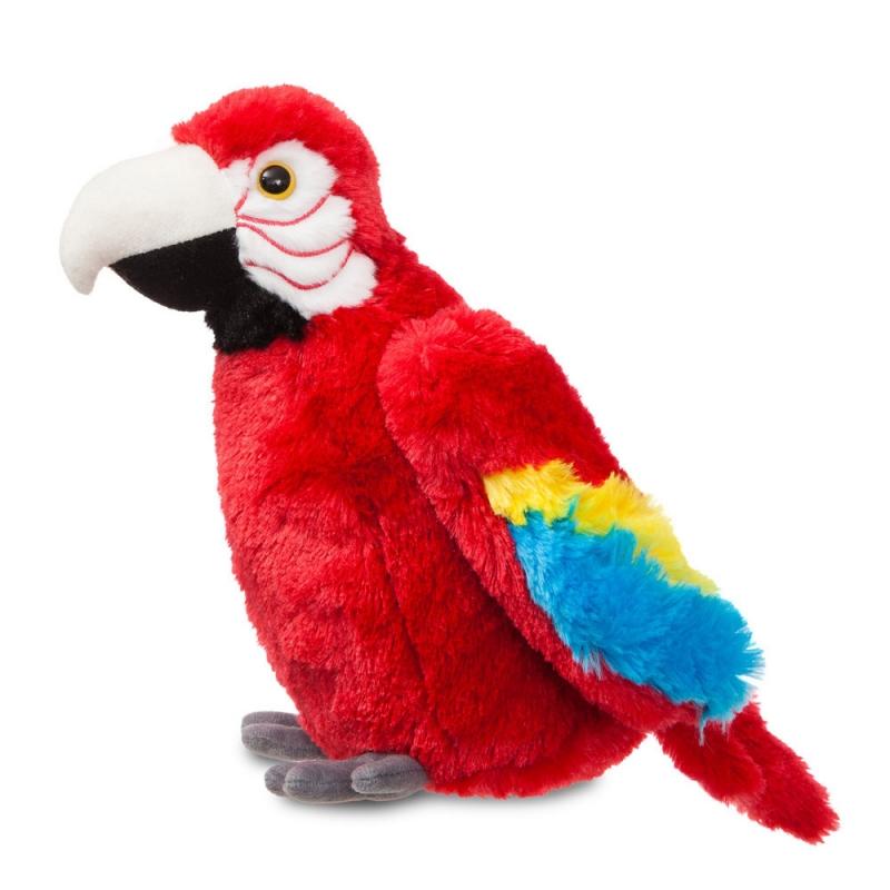 Plyšový papoušek Scarlet Macaw - Flopsie (30,5 cm)