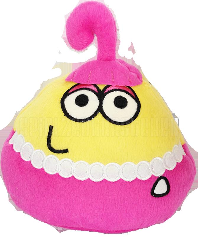 Plyšový POU - žltý s ružovou sukničkou (25 cm)