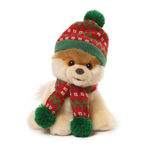 Plyšový psík Boo v zimnom oblečení (24 cm)