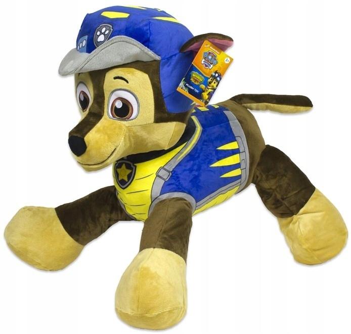 Plyšový psík Chase - modrý - Paw Patrol Rescue - 60 cm