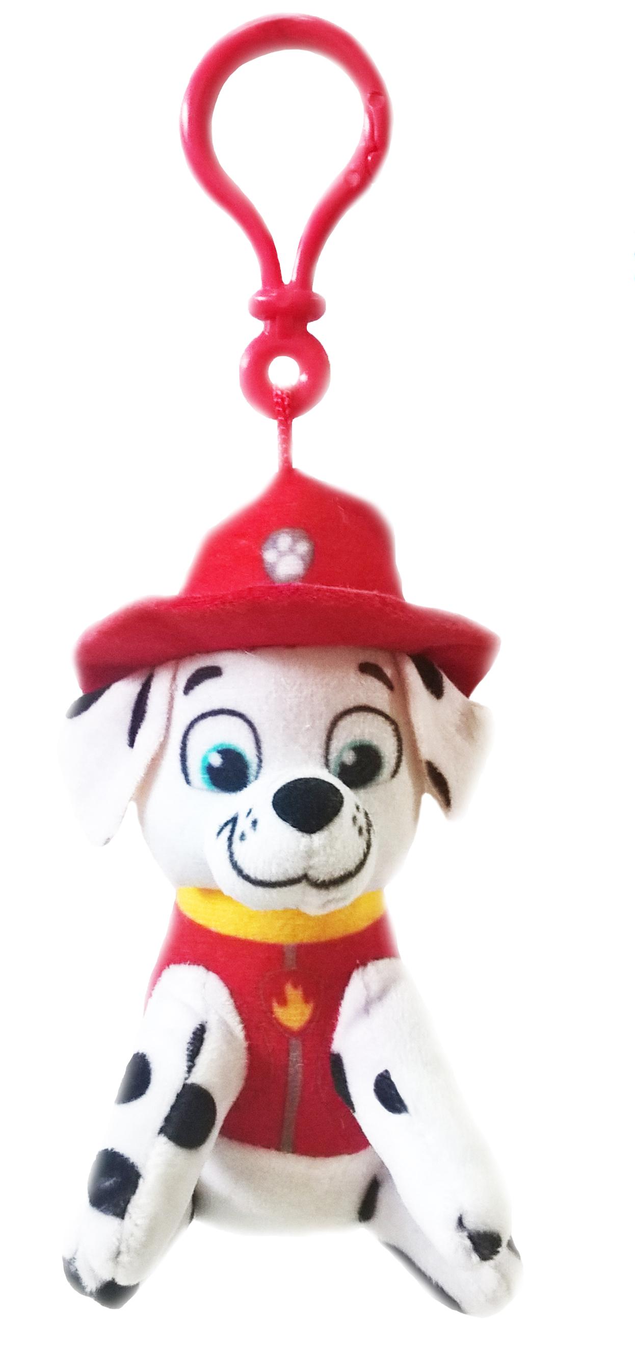 Plyšový psík Marshall - prívesok - Paw Patrol (10 cm)