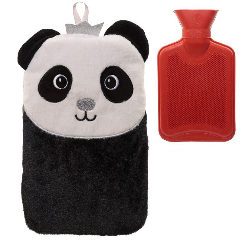 Plyšový termofor panda s korunkou (30 cm)