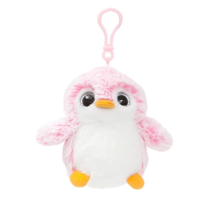 Plyšový tučniak ružový - prívesok - Pom Pom (10 cm)