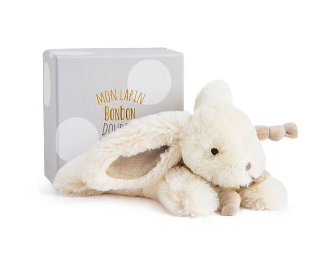Plyšový zajíček Bonbon hnědý v krabičce - Dou Dou (25 cm)