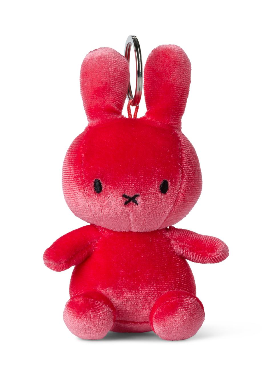 Plyšový zajačik cukríkovoružový zamat - kľúčenka - Miffy (10 cm)