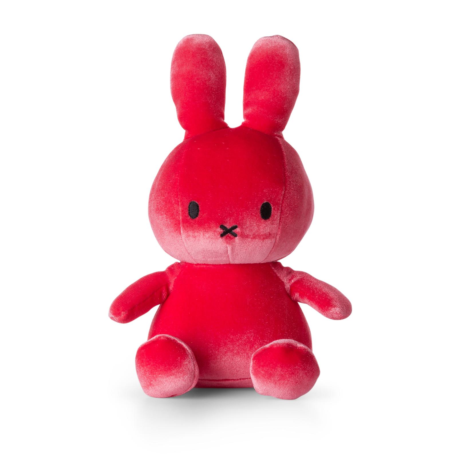 Plyšový zajačik cukríkovoružový zamat - Miffy (23 cm)