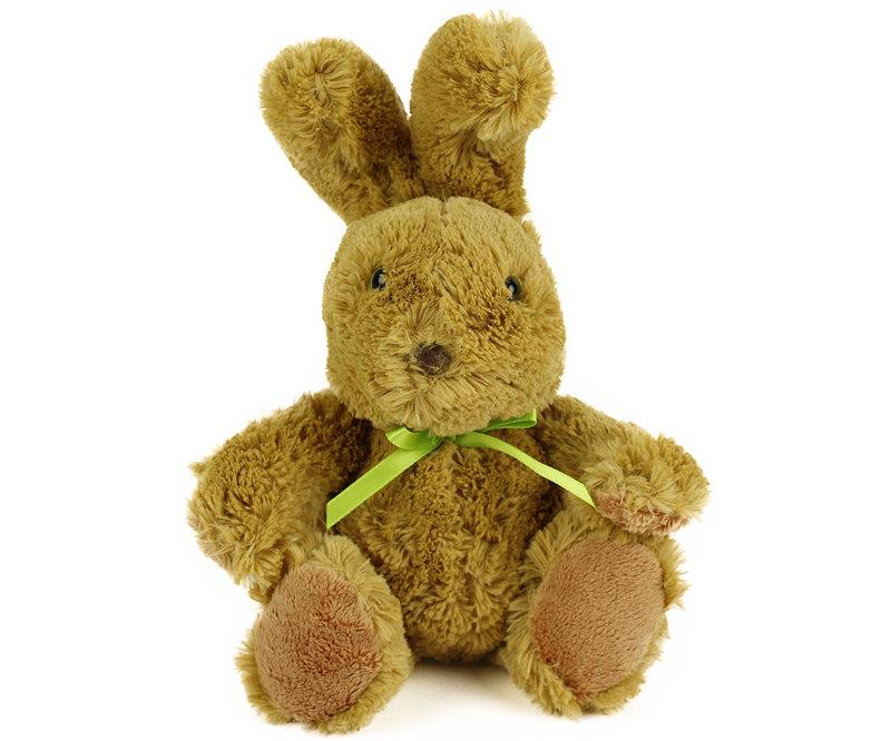 Plyšový zajačik hnedý sediaci (18 cm)