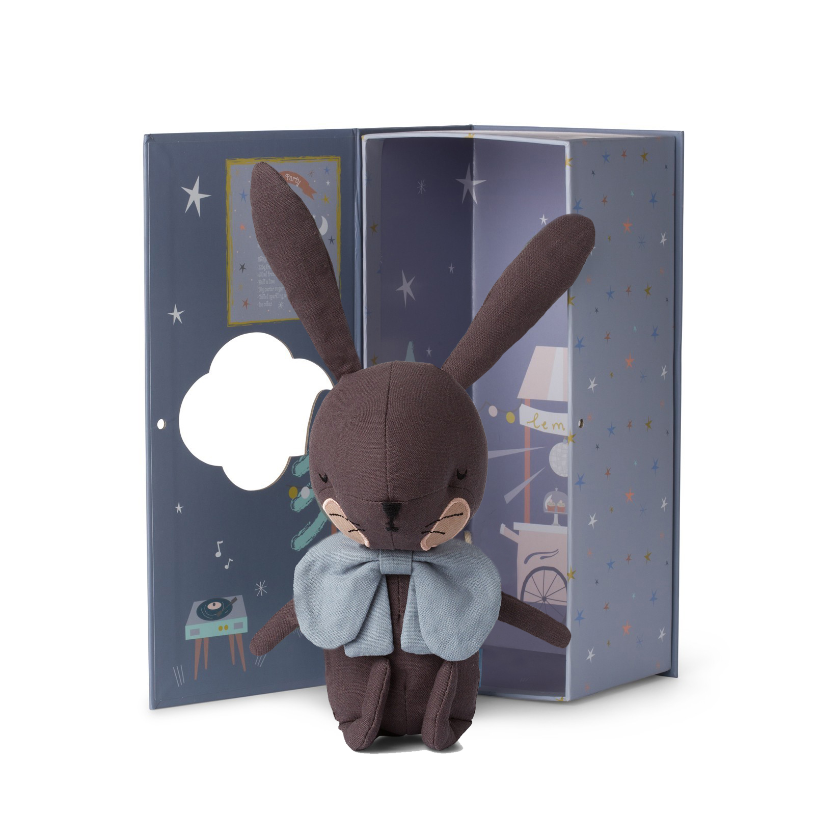 Plyšový zajačik hnedý v škatuľke - Picca Loulou (18 cm)