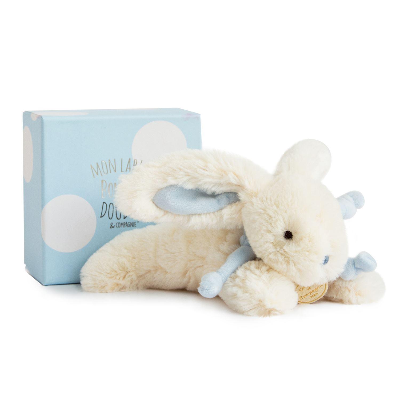 Plyšový zajíček modrý v krabičce - Dou Dou (20 cm)